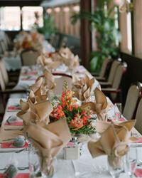 Closeup of a Table at a Banquet