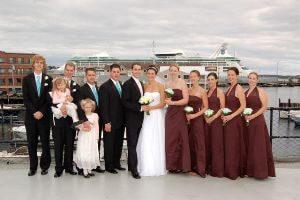 Wedding Group Outside of DiMillos